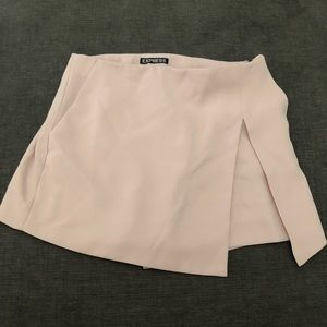 Asymmetric wrap skort/skirt